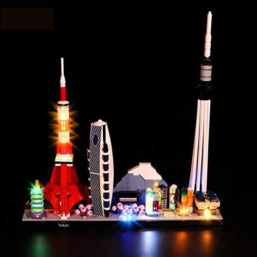 Conjunto De Luces para (Architecture Tokio) Modelo De Construcción De Bloques - Kit De Luz LED Compatible con Lego 21051, NO Incluido En El Modelo