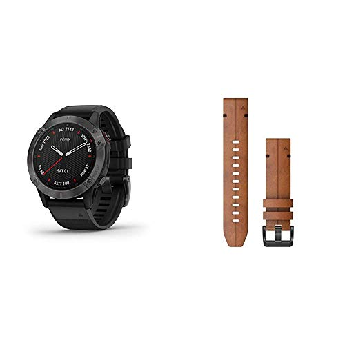 Best Prices! Garmin Fenix 6 Sapphire, Premium Multisport GPS Watch, Features Mapping, Music, Grade-A...