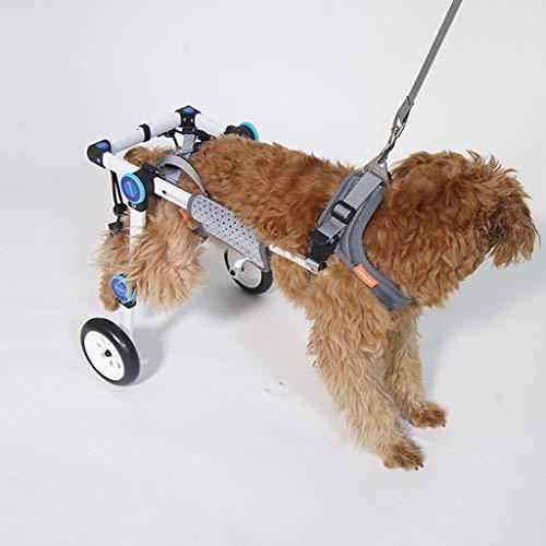 WRRAC-Duschhocker Hundegeschirr für Rollstuhl Haustier Roller Hund Hilfsmittel Hundeanhänger Behinderte Hund Gehweg Auto verstellbar Hunderollwagen für Schwacher Hund/Katze/Haustier