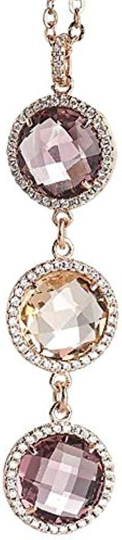 Boccadamo, collana per donna,in bronzo placcato oro rosa con pendente Xgr261Rs