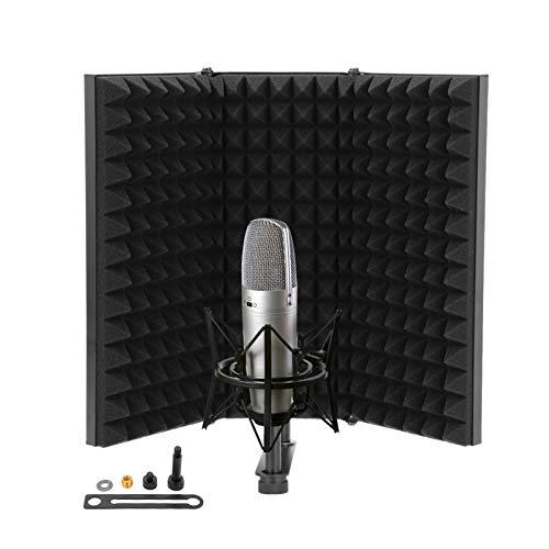 Shoze Microphone Isolation Shield Adjustable Portable Studio Acoustic...