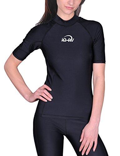 iQ-UV Damen 300 Slim Fit UV T-Shirt, Schwarz, M