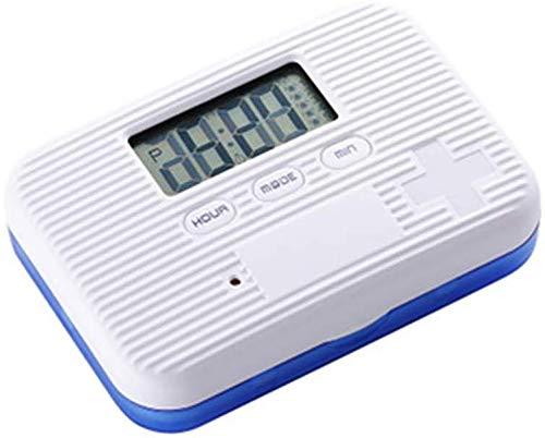 Soulitem Mini-pillendoosje, beschermhoes, elektronische timer, wekker, medicijnenmagazijn, multifunctioneel
