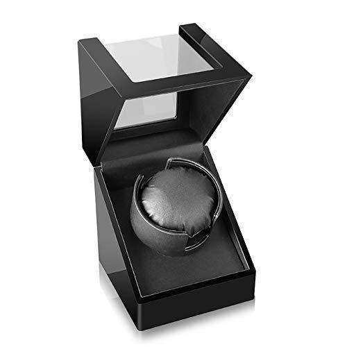 VSDEXR Enrollador automático de un Solo Reloj, Reloj de Cuerda automática 0 La magnetización es un Funcionamiento silencioso Enrollador automático de Reloj Caja de agitación de Reloj