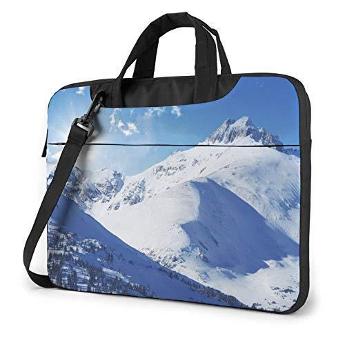 Bolso de Hombro Impreso montaña del Ordenador portátil de la Nieve, maletín del Bolso de Mensajero del Negocio del Bolso de la Caja del Ordenador portátil