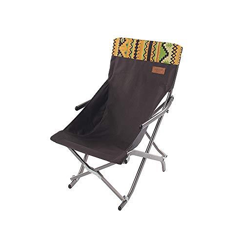 [ZZHQ] High-end Folding Chair, Ultra-light Aluminum Alloy Outdoor Camping Portable Folding Ultra-lightweight [High Back] [bearing Capacity 150kg] Compact Folding Beach Moon Chair Folding Stool