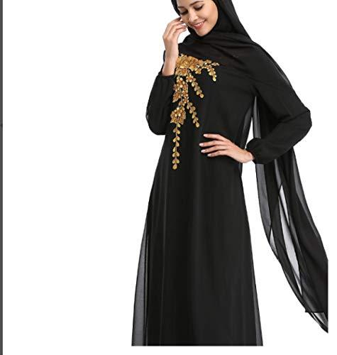 Yanxinenjoy moslim vrouwen lange jurken, gewaden, Arabische Midden-Oosten Turkse vrouwen gewaad