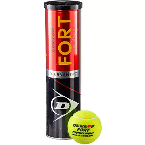 Dunlop - Fort Tournament - Tennisbälle - Dose mit 4 Bällen - gelb - Turnierball - 5013317102027