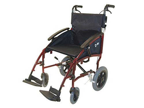 Transport-Rollstuhl mit Trommelbremse Drive Medical D-Lite 12,5'' 45 cm Sitzbreite