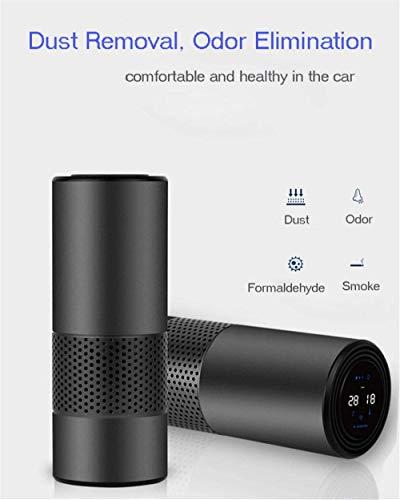 LY88 Autoreiniging Luchtreiniger met HEPA-filter Frisse luchtanion Auto-luchtreiniger Infraroodsensor Luchtfilter Beste voor auto Home Office Grijs