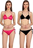 Katyall's Everyday Under Garment Underwear for Women/Girls Bra Panty Set -Value Pack of 2 Bikini Bra Set