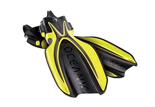 OCEANIC Manta Ray Open Heel Tauchen Flossen, gelb / schwarz