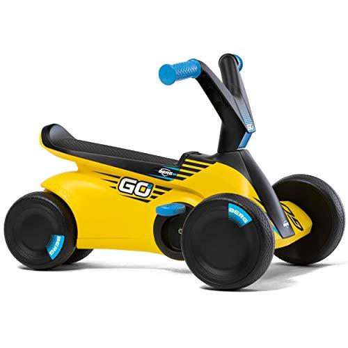 Berg GO² 2in1 Rutschauto | Rutscher und Laufrad, Kinderrutscher, Kinderauto mit Ausklappbare Pedale, Pedal-Gokart, Kinderspielzeug geeignet für Kinder im Alter von 10-30 Monaten (Gelb)
