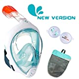 ME MARTIAN ELITE Tribord/Subea Easybreath (New Version) Full Face Snorkel Mask with Waterproof earplug, Enhanced Anti-Fog and Anti-Leak