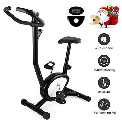 AGM Cyclette da Allenamento, F-Bike Bicicletta Home Trainer Fitness Bike Pieghevole Bicicletta Casa Cyclette