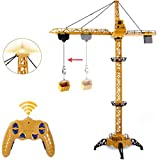 Liberty Imports 6 Channel RC Mega Tower Crane, 50.4 inch Tall 2.4GHz Remote...