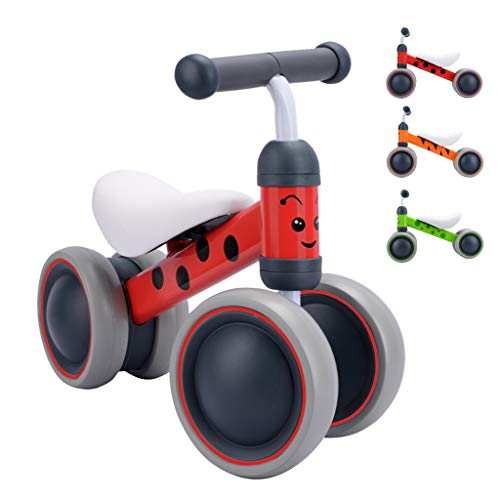 BOLDCUBE My First Bike - Baby Walker Balance Bike With No Pedals - Baby and Toddler Ride On - Trike for Ages 6 - 20 months, 1 - 2 years - Animal Designs & Gift Box (Betty Lady Bird)