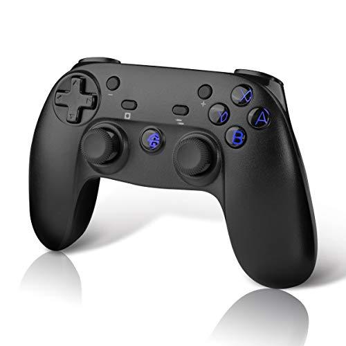 CHEREEKI Controller Kompatibel mit Nintendo Switch, Wireless Bluetooth Controller Gamepad Kompatibel mit Switch mit Dual Shock Vibration und Turbo Funktion Achsen Gyroskop Joystick