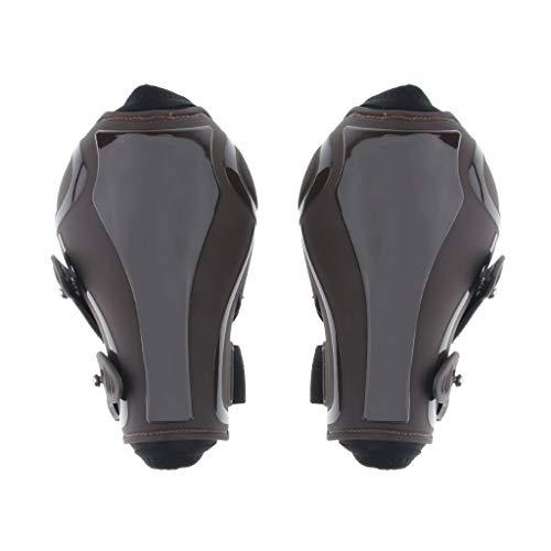SM SunniMix Atmungsaktiv Pferde Gamaschen Sehnenschoner Pferde Beinstiefel - Braune Rückseite