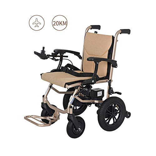 GYPPG Lightweight Wheelchair, Dual-function, Open/fast-folding Compact Electric Chair Drive, 45 Cm Wide Seat, 14kg