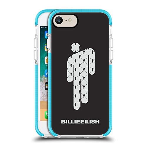 Head Case Designs Ufficiale Billie Eilish Blohsh Arte Chiave Custodia Bumper Gel Blu a Prova di Urti Compatibile con Apple iPhone 7 / iPhone 8 / iPhone SE 2020