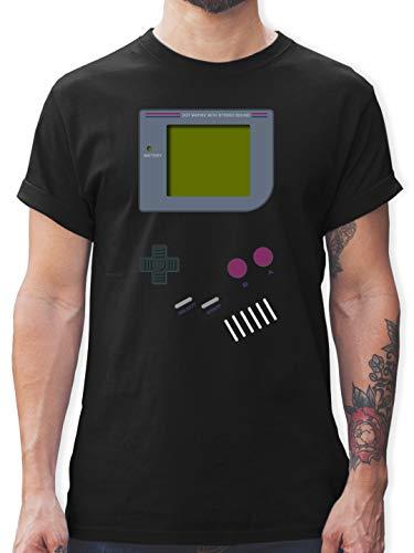 Nerds & Geeks - Gameboy - 3XL - Schwarz - 90er Jahre Outfit - L190 - Tshirt Herren und Männer T-Shirts
