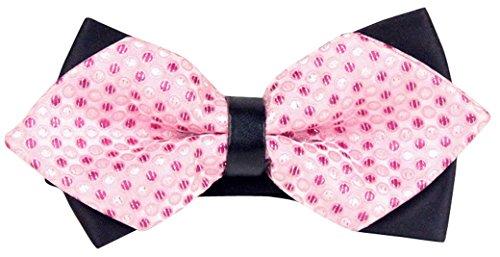Panegy - Nœud papillon rayé - Lavallière avec double couche - Homme Soirée Businesse Mariage Cérémonie Déco Fête Costume Necktie 6 * 12cm