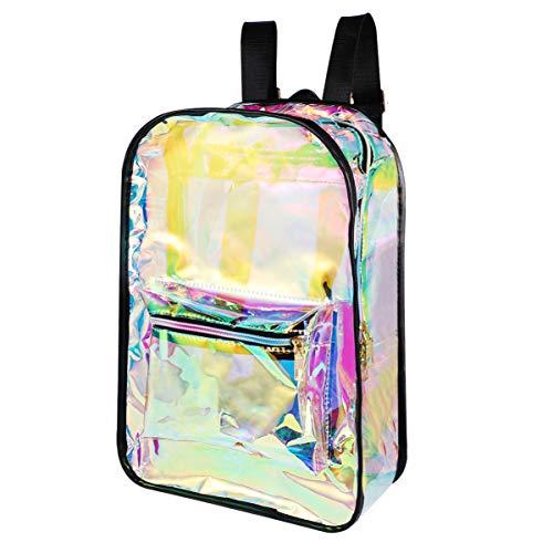 TENDYCOCO mochila de pvc mochila transparente holográfica para mochila escolar transparente con láser