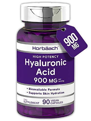Hyaluronic Acid 900mg | 90 Capsules | Triple Strength Tablets | Vegan, Gluten Free Supplement | by Horbaach