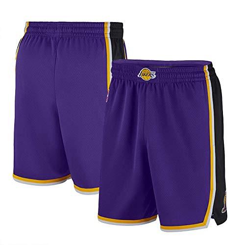 Conjuntos de Jersey de Baloncesto James 23# Lakers, Kits de Chaleco de Fitness sin Mangas de Verano para fanáticos de Malla Tops Transpirables de Secado rápido (S-XXL)-Purple~Shorts-S