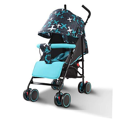 BOROAO Cochecito ultraportability Puede Sentarse o tranvía Choque Mentira bebé niño pequeño para bebé de Invierno Coche,Azul