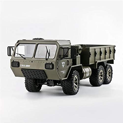 HKX 6WD RC Car Mobile Smart Control Faros LED dobles Conducción RC Coche 180 Motor 1/16 2.4G Ejército Militar Camión Modelo Juguetes Adultos Niño (Regalo de Cumpleaños de Vacaciones)