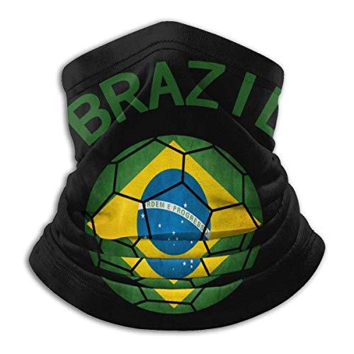 XXWKer Microfibre Chapeaux Tube Masque Visage Tour de Cou Cagoule, Brazil Soccer Men Women Cold Weather Ultimate Thermal Retention Face