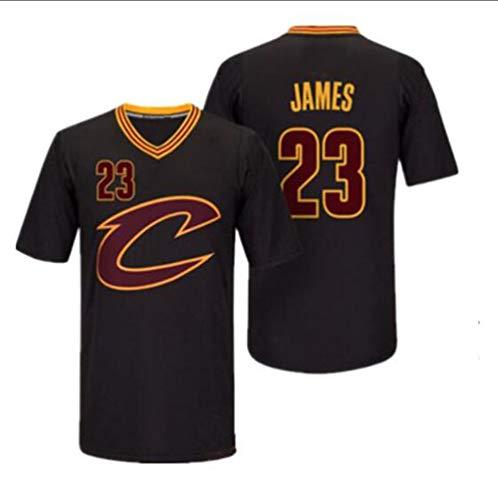 MMADD Cavaliers James Nº 23, Camiseta de Manga Corta Negro