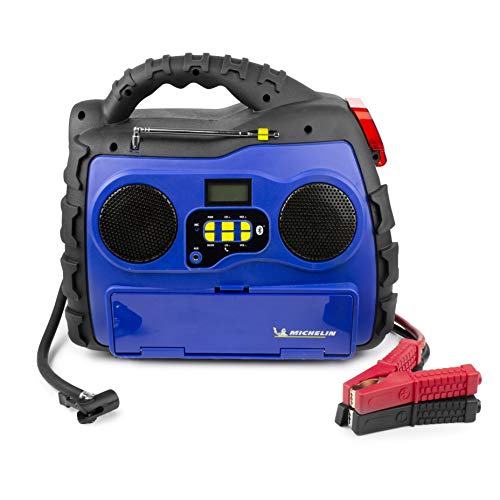 MICHELIN ML0728 Power Source XR1 Portable 1000 Amps Jump Starter with Air Compressor and 400 Watt Peak Surge Power Inverter and Bluetooth