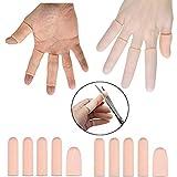 XUTONG - Gel Finger Cots, Finger Protector Support (10 PCS) Guanti da dito, Manicotti adatti per dita di grilletto, Eczema a mano, incrinatura di dita, artrite alle dita e altro