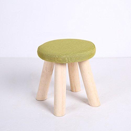 LRW Kleine kruk, massief hout, kleine stoel, mode schoenen, kruk, voor volwassenen, bankje