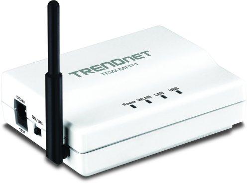 TRENDnet Wireless N 1-Port Multi-Function USB Print Server TEW-MFP1