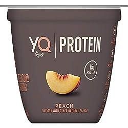 YQ by Yoplait Peach Single Serve Yogurt Made with Cultured Ultra-Filtered Milk, 5.3 oz Cup