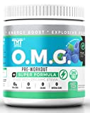 OMG Preworkout with Organic Caffeine and Creatine for Men and Women | Electrolytes and Stevia | Boost Energy, Stamina, Mental Clarity and Focus