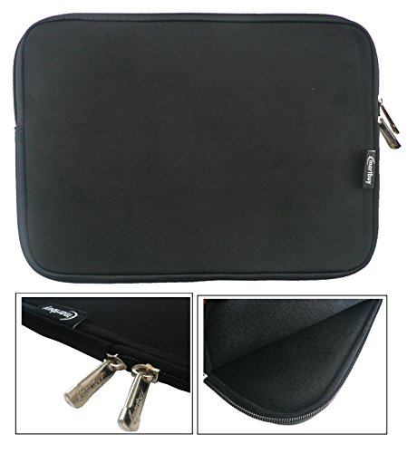 emartbuy® Schwarz Wasserdicht Neopren weicher Reißverschluss Kasten Sleeve Mit Schwarz Interieur & Zip geeignet für Acer Switch Alpha 12 Detachable PC (11.6-12.5 Zoll Tablet Chromebook Laptop)