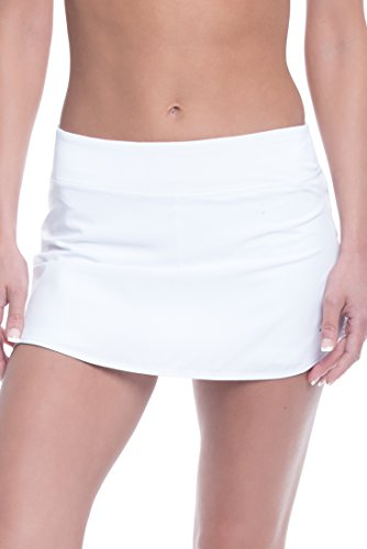 Penn Women's Active Skorts: Wide Band, Low Rise Tennis or Golf Skirt with Shorts,Stark White,Medium