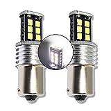 MCK Auto - Reemplazo para P21W 15SMD LED CanBus Conjunto de bombillas blancas de marcha atrás muy claras y sin errores F30 F31