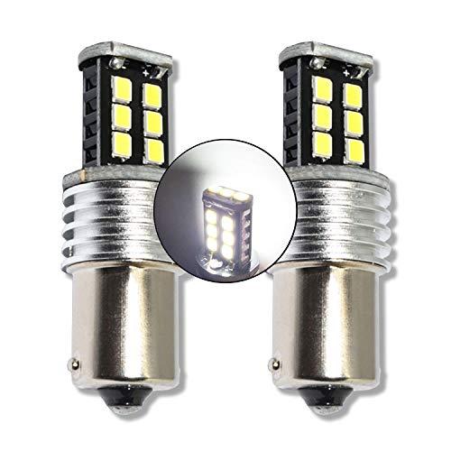 MCK Auto - Remplacement pour P21W BA15S 1156 LED Ensemble d'ampoules blanches très claires et sans erreur compatibles avec F30 F31 A1 A3