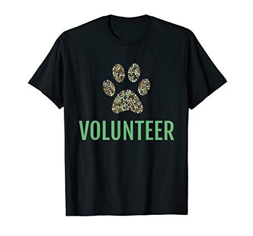 Animal Shelter Volunteer TShirt Dog Paw Print Cute Gift