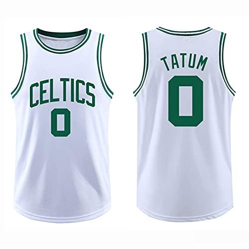 GQTYBZ Camiseta de Baloncesto para Adultos de la NBA, Boston Celtics # 0 Jayson Tatum Uniforme de Fanático del Baloncesto Camiseta de Chaleco de Tela Transpirable Fresca, Camisetas de Swingman