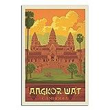 RQSY Vintage-Reise-Poster Kambodscha Angkor Wat,