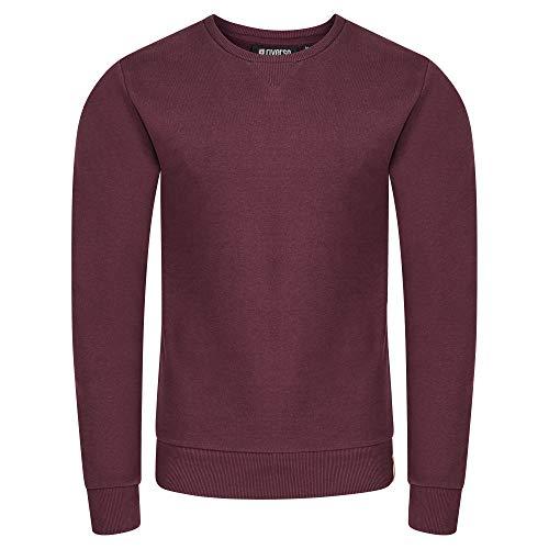 riverso Herren Pullover RIVPhillip Sweatshirt Basic Rundhals Sweater Pulli Langarm Regular Fit Einfarbig Rot L, Größe:L, Farbe:Port Red (15400)