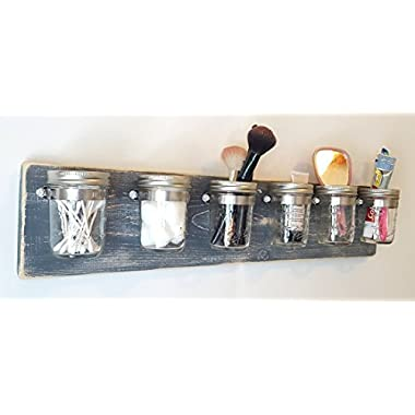 Bathroom Organization by Out Back Craft Shack: Farmhouse Decor 6 Mason Jar Toothbrush Holder