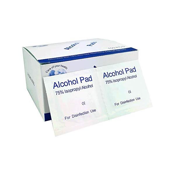 Ksix Pack TOALLITAS DESINFECTANTES con Alcohol para Smartphone Y Otros Dispositivos 100 UNDS.